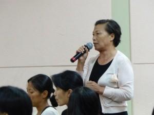 来自武汉的法轮功学员方云宝在观看完《台湾人在大陆》的影片后,站出来揭露更多中共活摘法轮功学员器官的佐证。(林丹/大纪元)